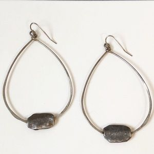 Anthropologie Teardrop Stone Earrings